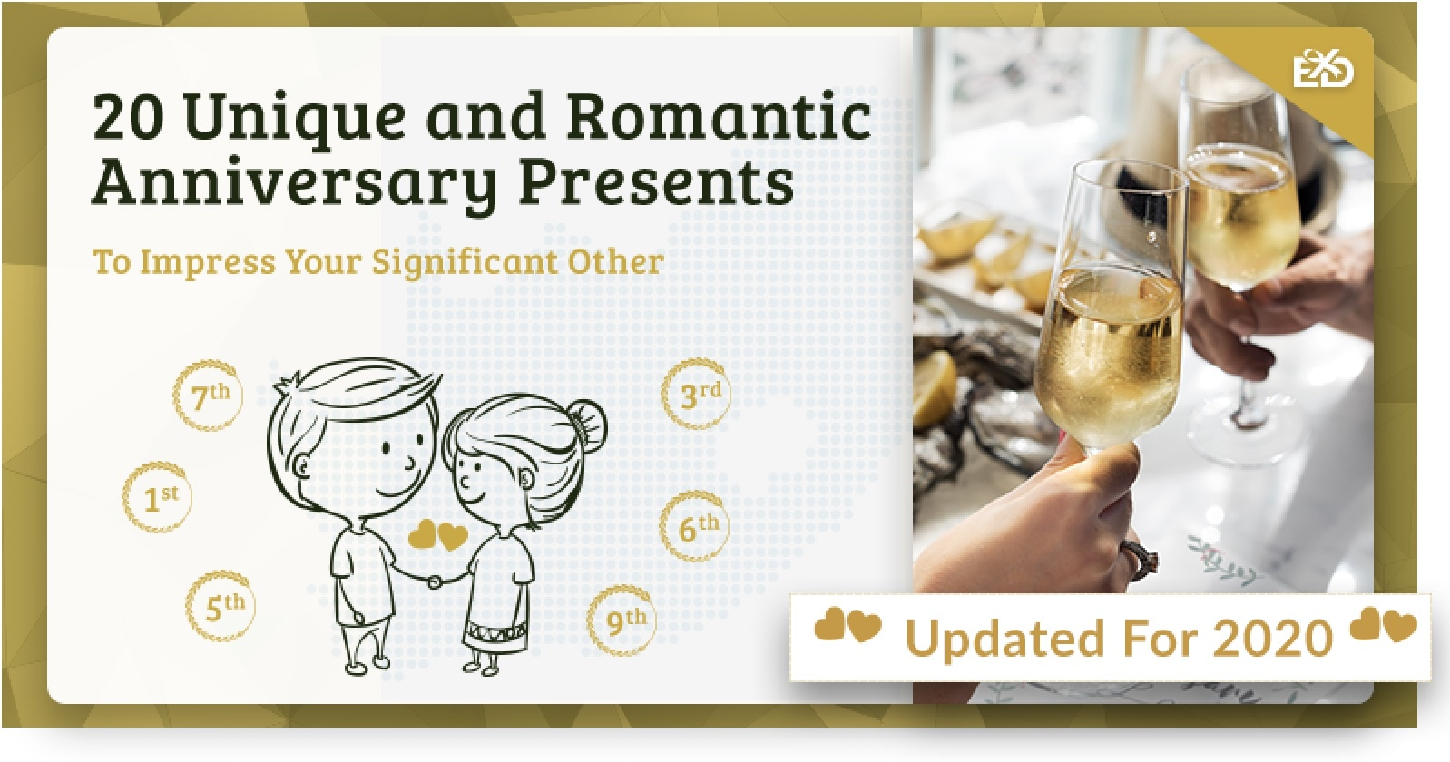 144613443e62 20 Unique and Romantic Anniversary Presents to Impress Your Significant  Other - Experience Days