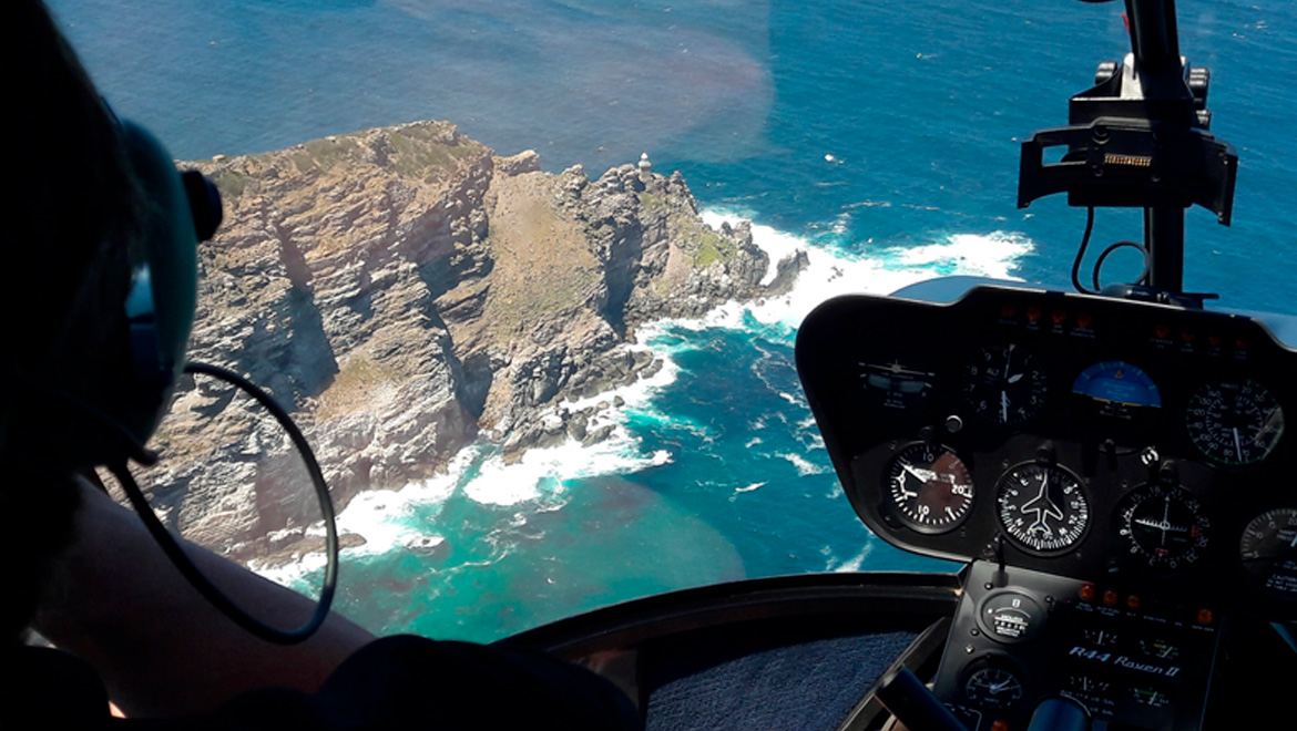 Helicopter Flying South Africa
