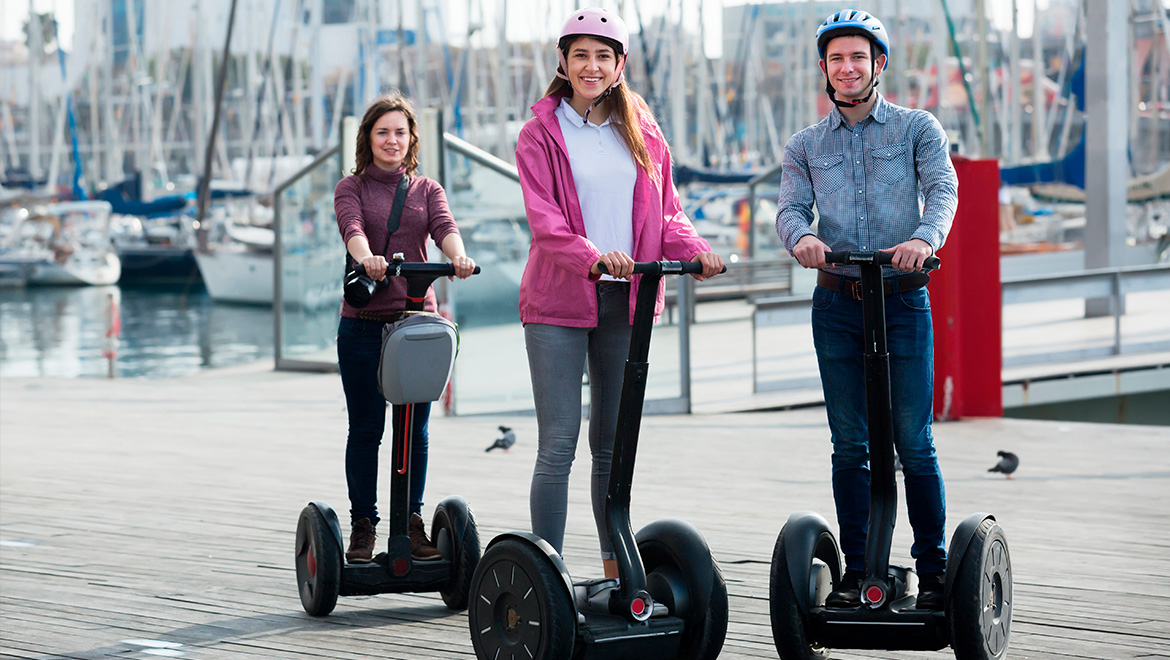 People using Segway