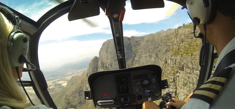 Private Helicopter Tour and Winelands Lunch in Cape Town-1