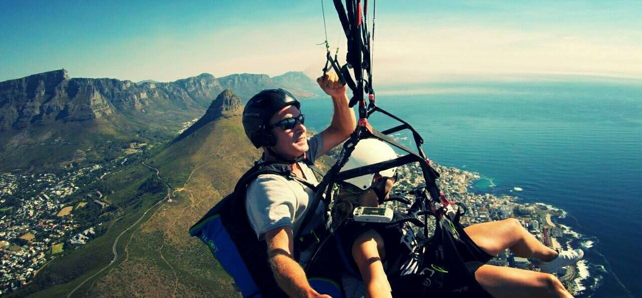 Lion's Head or Signal Hill Tandem Paragliding Flight-5