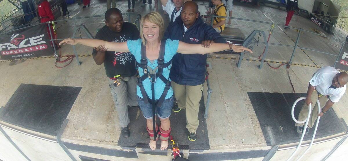 World's Highest Bridge Bungy Jump - Bloukrans River-9