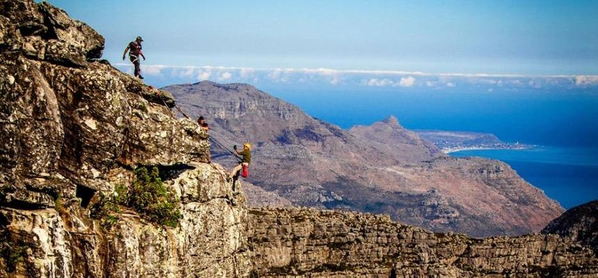112 Metre Abseil From Table Mountain-1